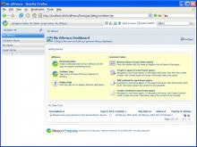 The My Alfresco Dashboard provides a familiar welcome screen for users