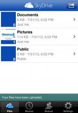iPhone/iPod Touch: OneDrive App