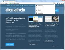 Page Actions menu