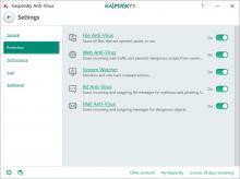 Kaspersky Antivirus - Settings