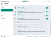 Kaspersky Free - Settings