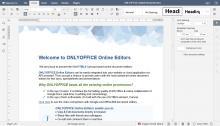 Online document editor