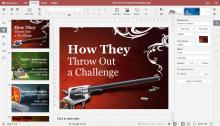 Online presentation editor