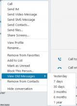 Contact's context menu